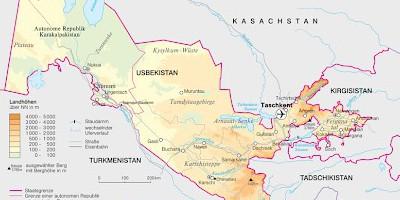 Usbekistan Karte.Zeitschrift Osteuropa Usbekistan