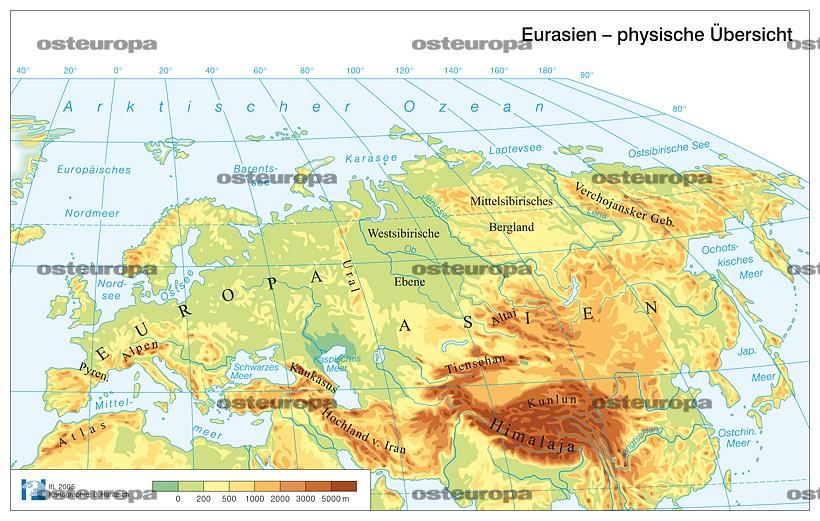 Europa Karte Physisch.Zeitschrift Osteuropa Eu Und Europa