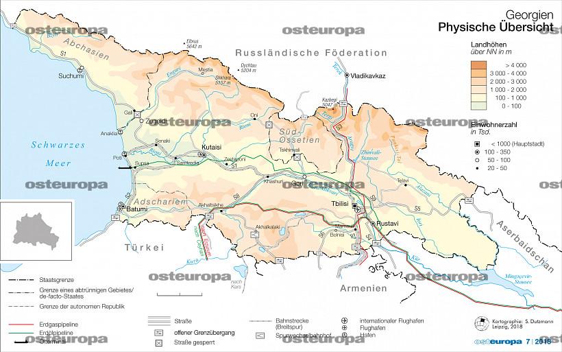Jugoslawien Karte 2018.Zeitschrift Osteuropa Georgien